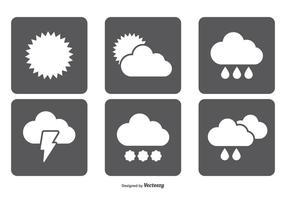 Ensemble d'icônes météo simple vecteur
