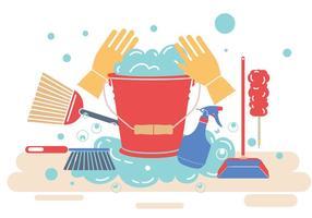 Vecteur de nettoyage de printemps