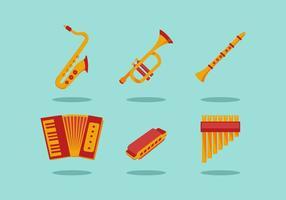 VECTEURS D'INSTRUMENTS MUSICAUX GRATUITS vecteur