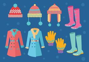 Vecteur de manteau d'hiver