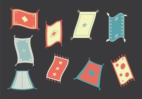 Illustration vectorielle de tapis magique gratuit vecteur