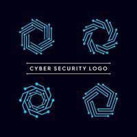 ensemble de logo de forme de technologie abstraite vecteur