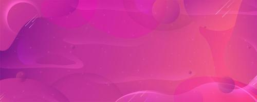 bannière de formes fluides dégradé violet rose moderne vecteur