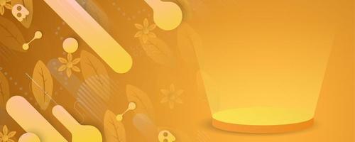 bannière orange automne horiztonal abstrait vecteur