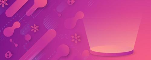 bannière rose forme fluide abstrait vecteur