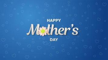 fond de coeur de fête des mères vecteur