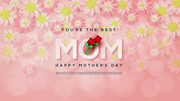 fond floral avec la fête des mères