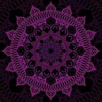 fond de conception de mandala rose et noir