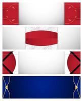 ensemble de bannière abstrait rouge bleu et blanc