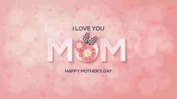 fête des mères sur fond de bokeh