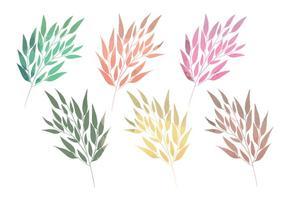 Branches d'aquarelle vectorielle vecteur