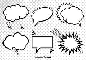 Cartoon Cartoon Speech Bubbles vecteur