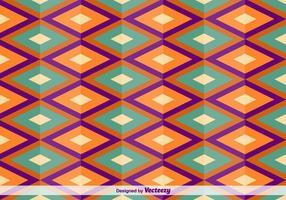 Motif de vecteur oriental carré géométrique