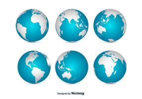 Globe set vector
