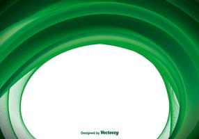 Fond vert vecteur vague abstraite
