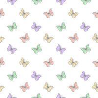 modèle sans couture avec des papillons pastel