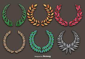 Ensemble vectoriel de couronnes colorées