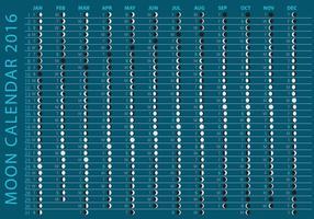 Calendrier sombre du calendrier 2016 vecteur