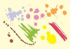 Paint straek vector