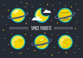 Vecteur de planètes d'espace libre