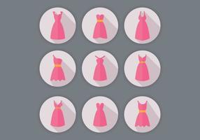 Vecteurs de robe de demoiselle d'honneur