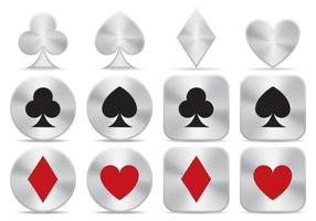 Vector d'icônes de poker en aluminium