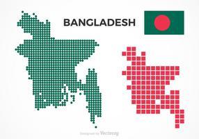 Cartes vectorielles gratuites de Bangladesh vecteur