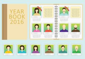 Modèle de vecteur de livre d'année