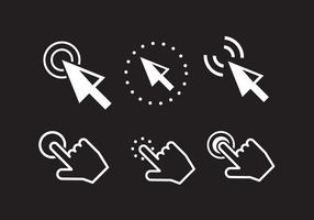 Icônes de clic de souris vecteur