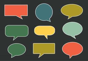 Injection vectorielle gratuite, bulles de la parole et de la communication vecteur