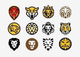 collection tête de lion et tigre