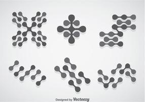 Ensembles vectoriels de nanotechnologie vecteur