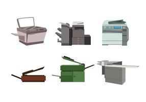 Vecteur de photocopieuse isolé