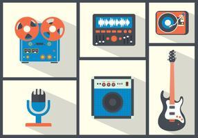 Instruments de musique vectorielle