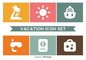 Ensemble d'icônes de vacances