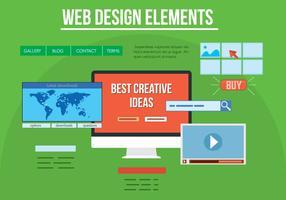 Éléments de conception Web de vecteur gratuit