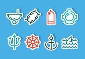 Vecteurs d'icônes océaniques vecteur