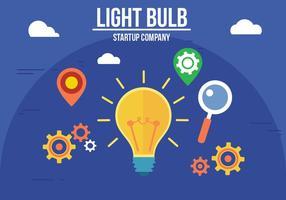 Vecteur d'ampoule lumineuse créatif gratuit