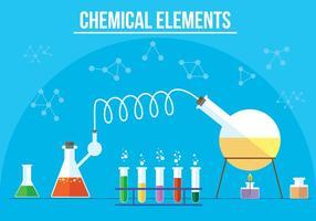 Éléments chimiques vectoriels gratuits vecteur