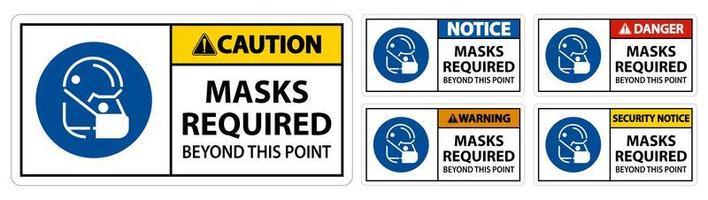"""panneaux indiquant """"masques requis au-delà de ce point"""""""