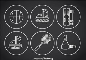 Vecteurs d'icônes de contours minces de sport vecteur