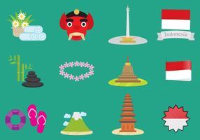 Icônes de vecteur d'Indonésie