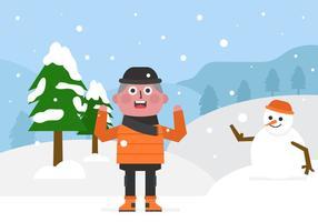 Journée d'hiver vectorielle vecteur