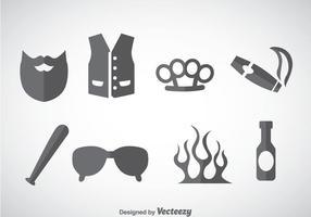 Hooligans élément icônes vecteur