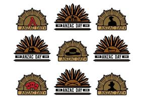 Badges vectoriels Anzac vecteur
