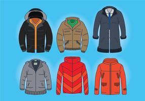 Vecteurs de manteau d'hiver vecteur
