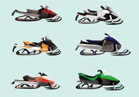 Vector de motoneige