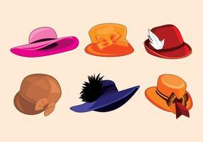 Vecteur de chapeau de dames