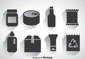 Vecteur des icônes d'ensemble de paquet