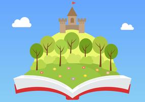 Vecteur libre de livre de conte de fées
